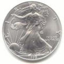 1999 Silver Eagle 1 oz Uncirculated #PAPPS96134