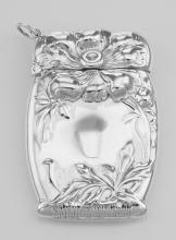 Art Nouveau Style Repousse Floral Match Safe Holder Vesta Case Sterling Silver #PAPPS97897