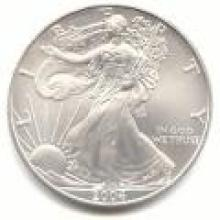 2004 Silver Eagle 1 oz Uncirculated #PAPPS96124