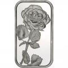 Rose .999 Silver 1 oz Bar #PAPPS96063