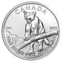Canadian Silver 1 oz Cougar 2012 #PAPPS96506