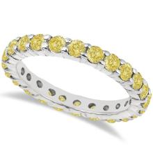 Fancy Yellow Canary Diamond Eternity Ring Band 14k White Gold (2.00ct) #PAPPS20616