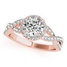 Diamond Infinity Twisted Halo Engagement Ring 14k Rose Gold 1.50ct #PAPPS20767