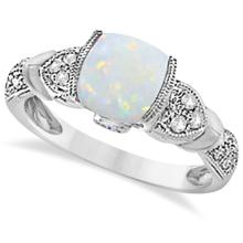 Tanzanite, Diamond and Opal Ring 14k White Gold (1.10ct) #PAPPS20726