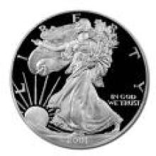 Proof Silver Eagle 2001-W #PAPPS96194