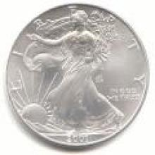 2001 Silver Eagle 1 oz Uncirculated #PAPPS96127