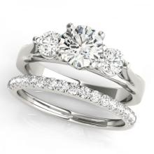 CERTIFIED 18KT WHITE GOLD 1.25 CT G-H/VS-SI1 DIAMOND BRIDAL SET #PAPPS86782