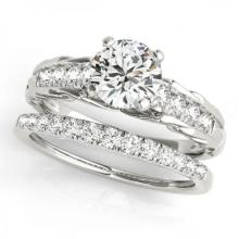 CERTIFIED 14KT WHITE GOLD 1.12 CT G-H/VS-SI1 DIAMOND BRIDAL SET #PAPPS86769