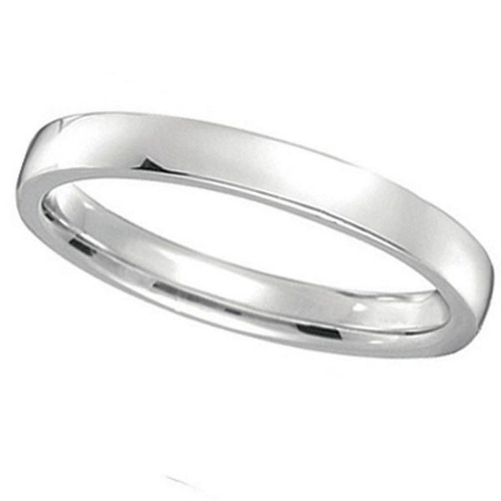 platinum Wedding Ring Low Dome Comfort Fit 2mm