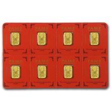 8x1 gram Gold Bar PAMP Suisse Lunar Monkey Multigram+8 (In Assay) #75176v3