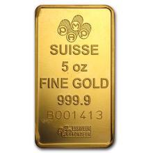 5 oz Gold Bar - Secondary Market #75205v3