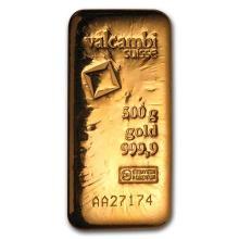 500 gram Gold Bar - Valcambi (Poured w/Assay) #75226v3