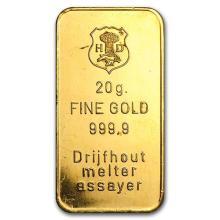 20 gram Gold Bar - Secondary Market #75171v3