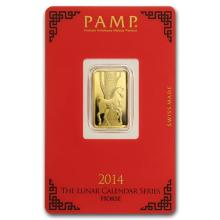 5 gram Gold Bar - PAMP Suisse Year of the Horse (In Assay) #75198v3