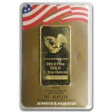 5 oz Gold Bar - Engelhard ('Eagle' logo, In Assay) #75261v3