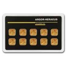 10x 1 gram Gold Bar - Argor-Heraeus (In Assay) #75194v3