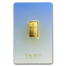 5 g Gold Bar - PAMP Suisse Religious Series (Romanesque Cross) #75202v3