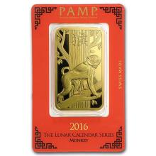 100 gram Gold Bar - PAMP Suisse Year of the Monkey (In Assay) #75243v3