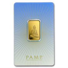10 gram Gold Bar - PAMP Suisse Religious Series (Buddha) #75219v3
