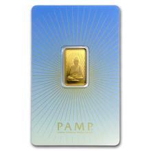 5 gram Gold Bar - PAMP Suisse Religious Series (Buddha) #75199v3
