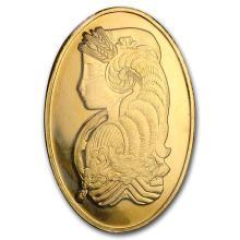 1 oz Gold Oval - PAMP Suisse Fortuna (Sealed In Original Plastic) #75242v3