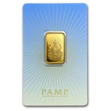 10 gram Gold Bar - PAMP Suisse Religious Series (Lakshmi) #75189v3
