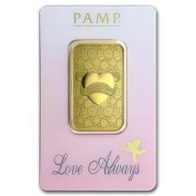 1 oz Gold Bar - PAMP Suisse Love Always (In Assay) #75182v3