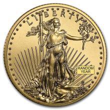 1/4 oz Gold American Eagle BU (Random Year) #75268v3