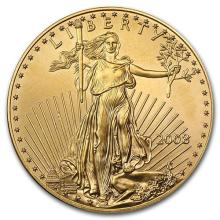 2008 1 oz Gold American Eagle BU #75284v3