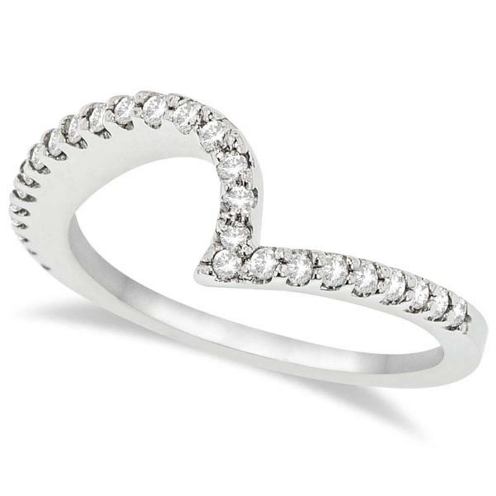 Contour Diamond Wedding Band Prong Set in Platinum 0.25ct #PAPPS20903