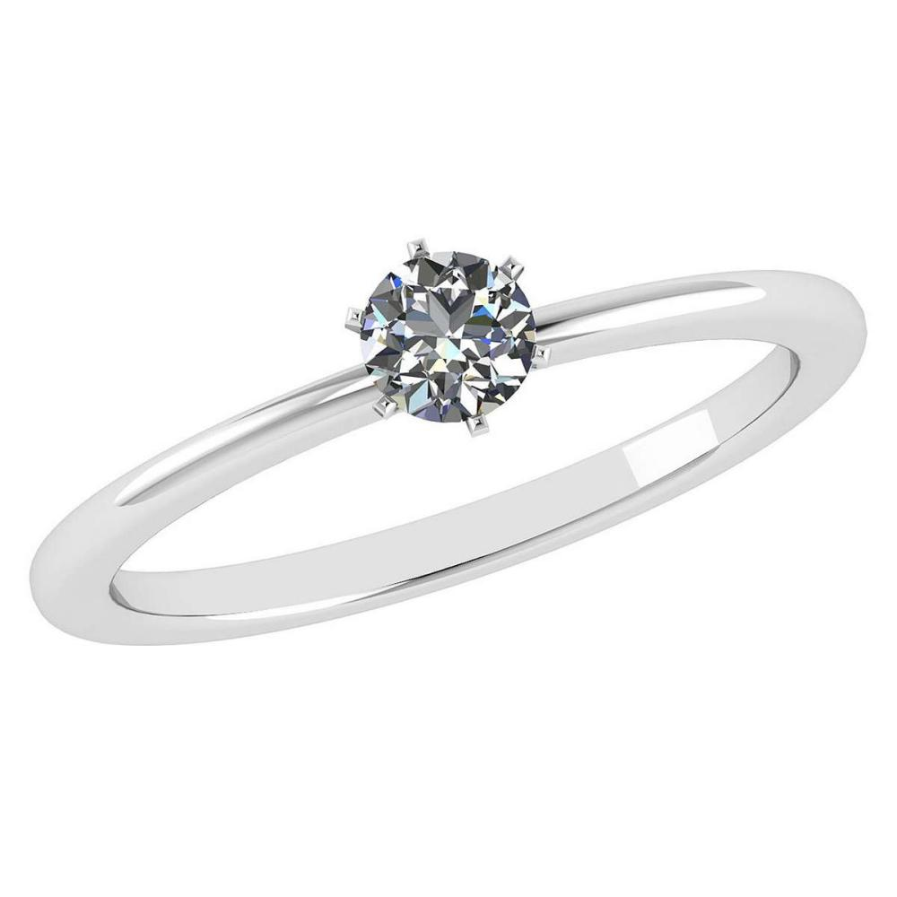 Certified 0.50 Ctw Diamond 14k White Gold Ring #PAPPS16014