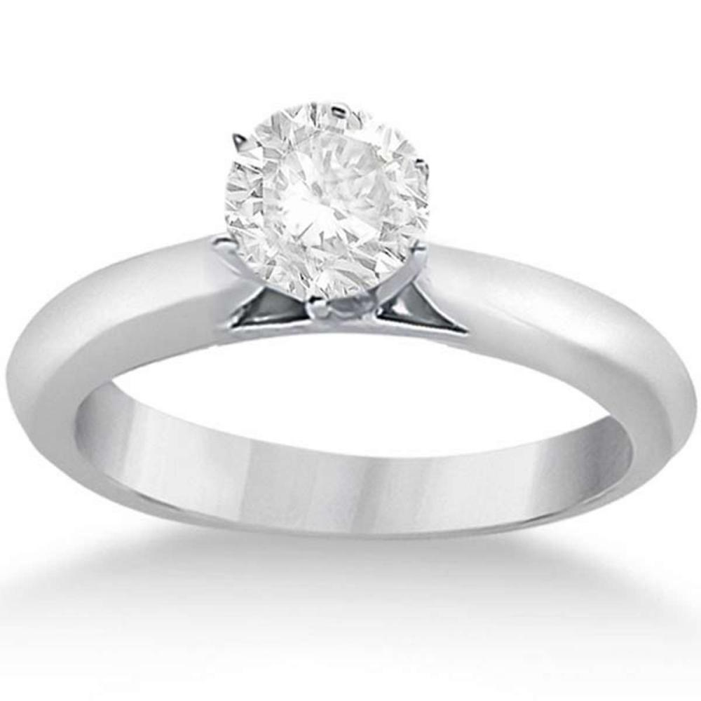 Six-Prong 14k White Gold Solitaire Engagement Ring Setting #PAPPS20924