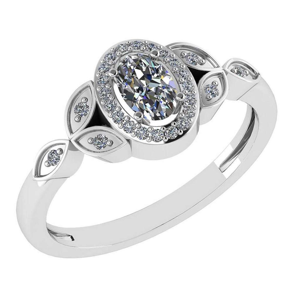 Certitifed 0.84 Ctw Diamond 14k White Gold Halo Ring #PAPPS97117