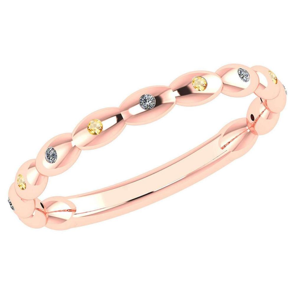 Certified 0.05 Ctw Fancy Yellow Diamond 14k Yellow Gold Promise Band #PAPPS16191