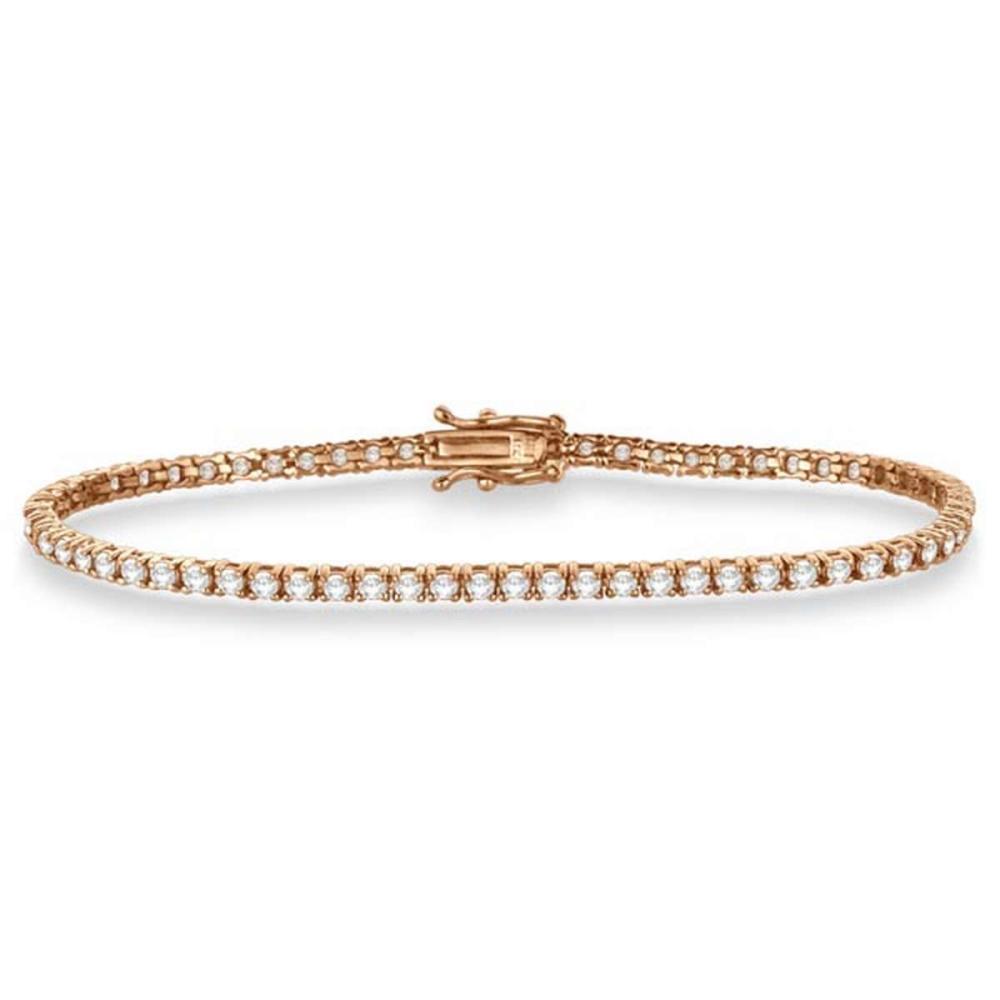 Eternity Diamond Tennis Bracelet 14k Rose Gold (3.51ct) #PAPPS20984