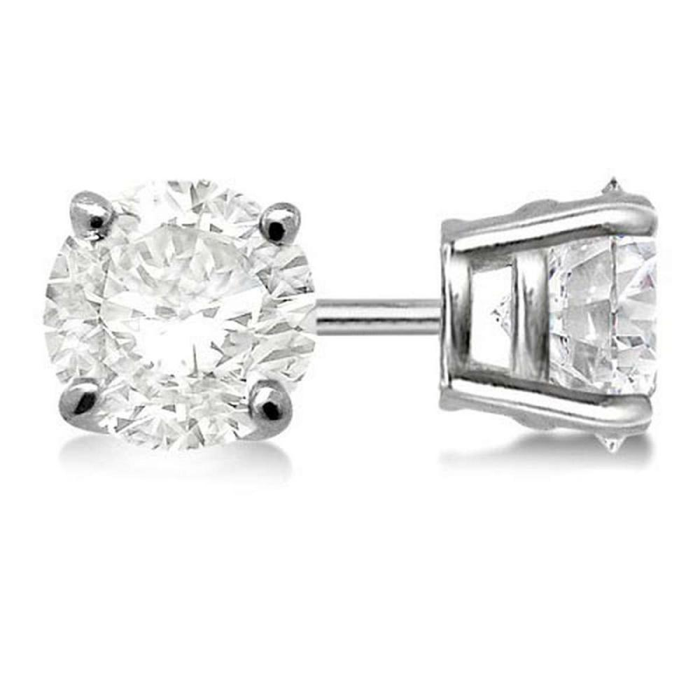Certified 1.11 CTW Round Diamond Stud Earrings D/SI2 #PAPPS83902