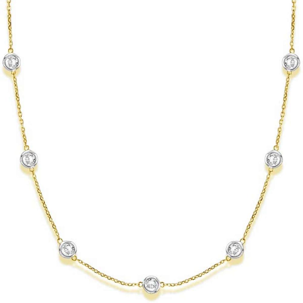 Diamonds by The Yard Bezel-Set Necklace in 14k Two Tone Gold (3.00ct) #PAPPS20883