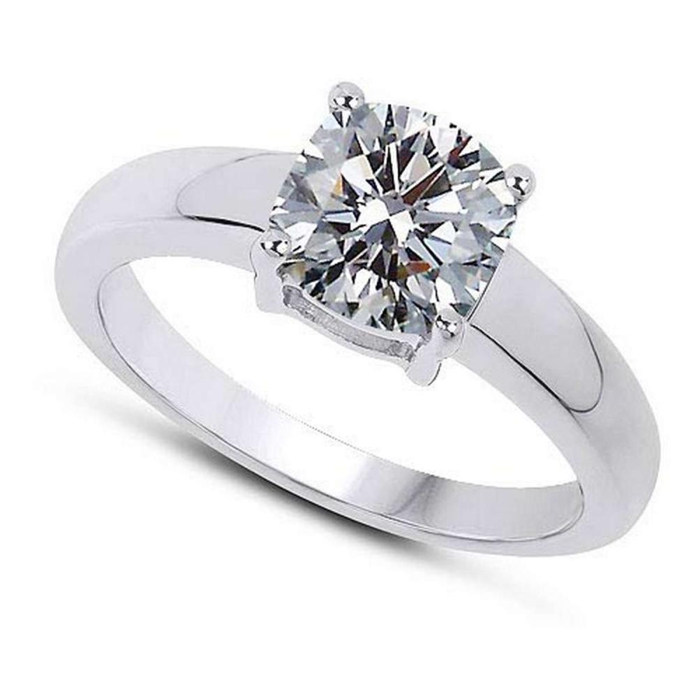 Certified .75 CTW Round Diamond 14K White Gold Ring #PAPPS92316