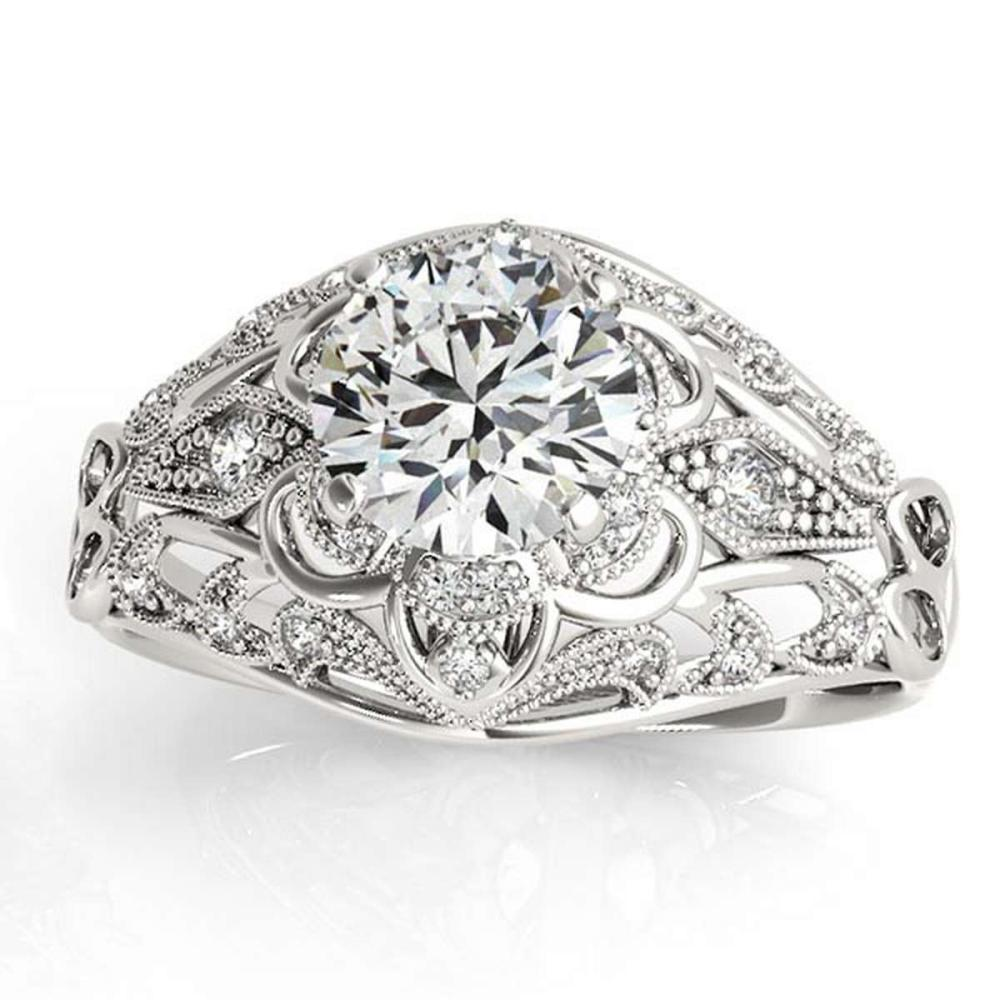 Vintage Art Deco Diamond Engagement Ring Setting 14k White Gold 0.90ct #PAPPS20977
