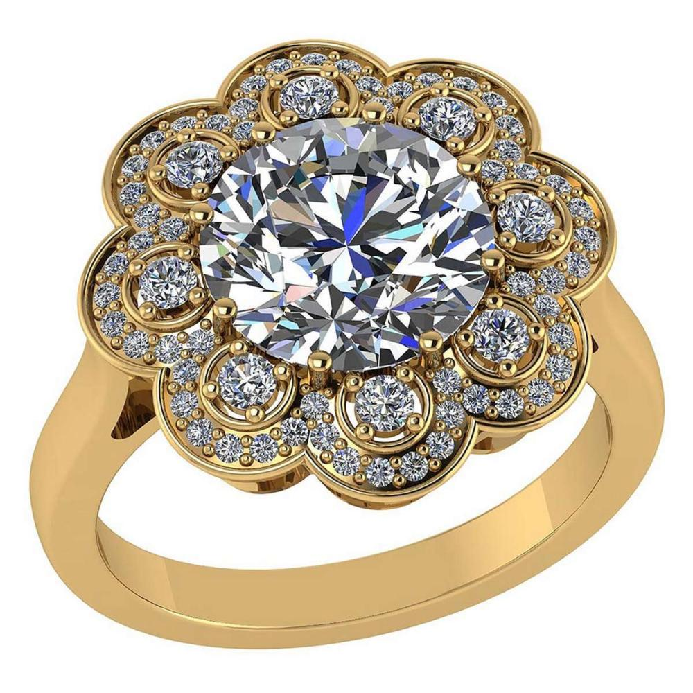 Certified 1.75 CTW Round Diamond 14K Yellow Gold Ring #PAPPS92313