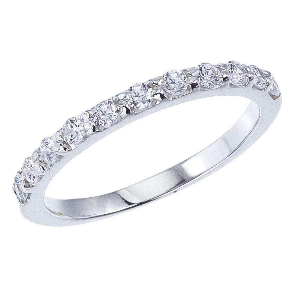 Certified 14K White Gold .55 CTW Diamond Band Ring 0.55 CTW #PAPPS25419