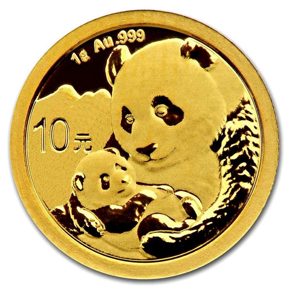 Chinese Gold Panda 1 Gram 2019 #PAPPS95626