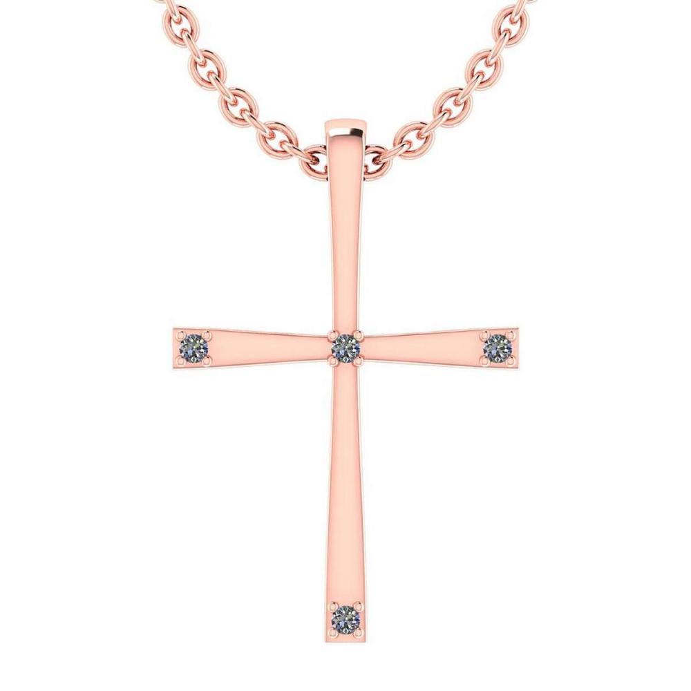 Certified 0.06 Ctw Diamond 14k Yellow Gold Pendant #PAPPS16017