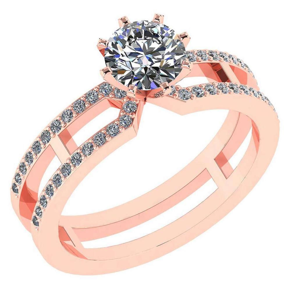 Certified 1.32 Ctw Diamond 14k Rose Gold Engagement Ring #PAPPS94862