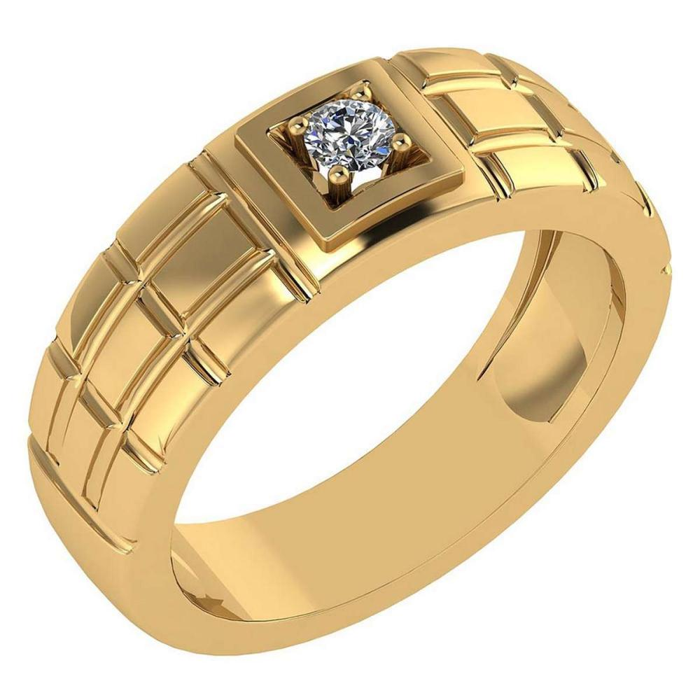 Certified .11 Ctw Diamond And 14k Yellow Gold Promise Band #PAPPS94846