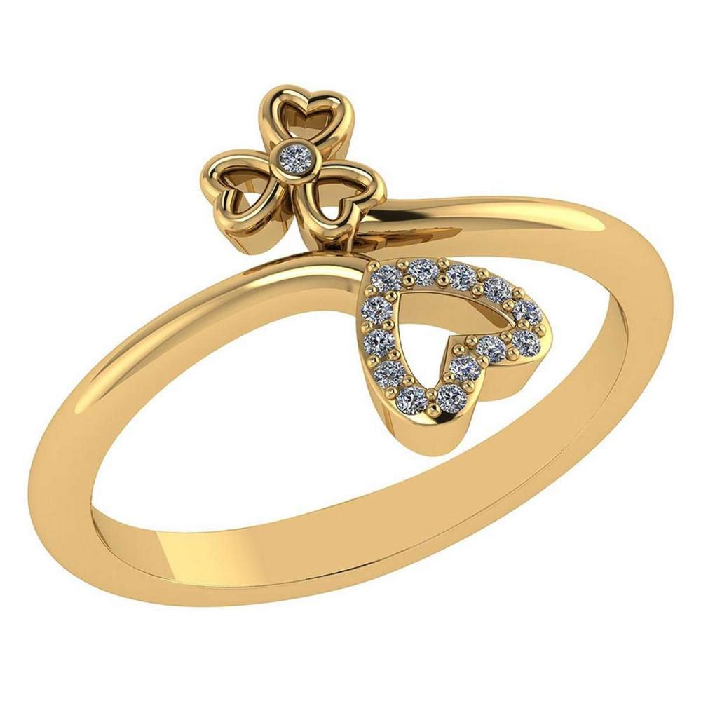 Certified .07 Ctw Diamond 14k Yellow Gold Heart shape Ring #PAPPS94855
