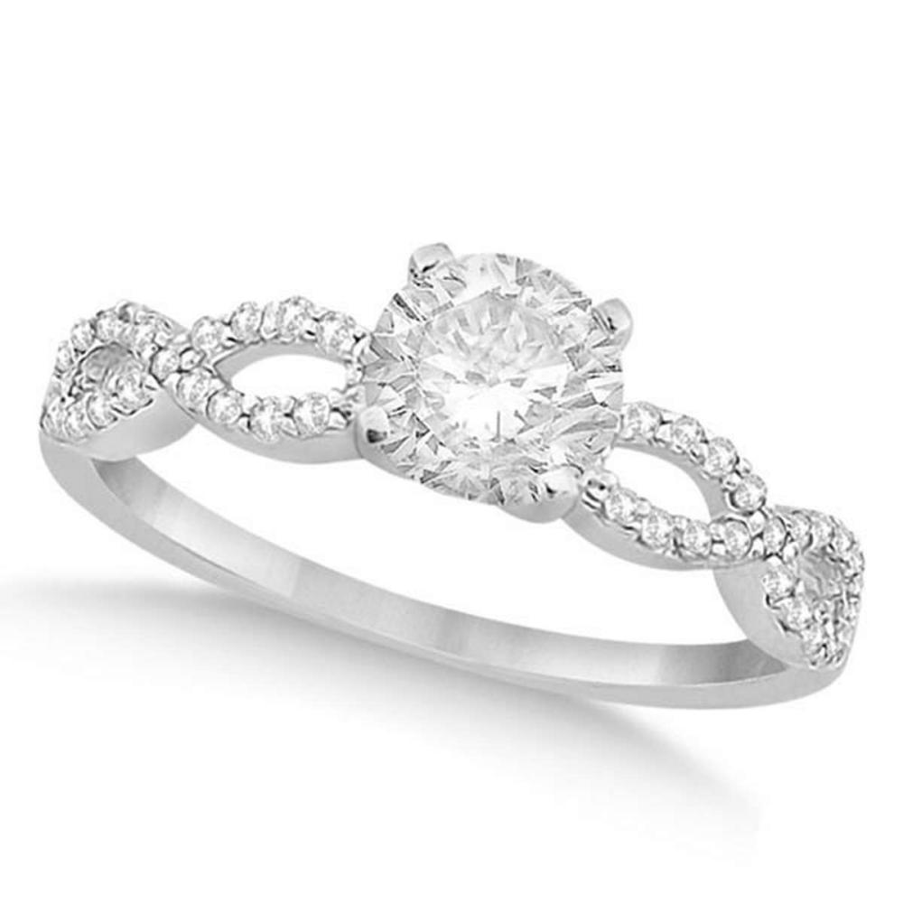 Twisted Infinity Round Diamond Engagement Ring 14k White Gold (0.50ct) #PAPPS20973