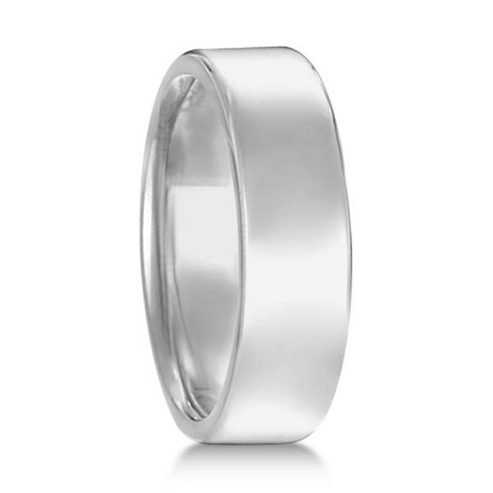 Euro Dome Comfort Fit Wedding Ring Mens Band 18k White