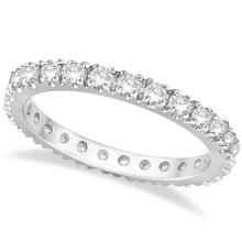 Diamond Eternity Wedding Ring Band 14K White Gold (0.51ctw) #PAPPS20395