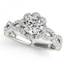 CERTIFIED PLATINUM 1.00 CT G-H/VS-SI1 DIAMOND HALO ENGAGEMENT RING #PAPPS86169